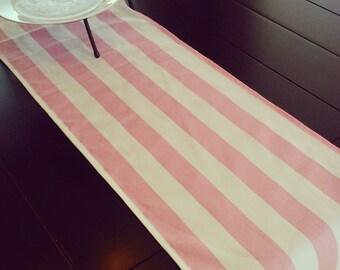 TABLE RUNNER Premier Prints Canopy Stripe LIGHT baby pink