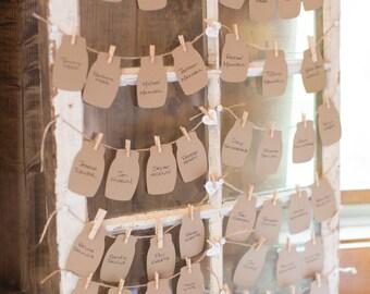 24 Mason Jar Die Cut, Canning Jar, Kraft Mason Jar Punch,Wedding Favor Tag-Rustic- Placecards