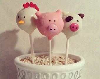 Barnyard Friends Cake Pops