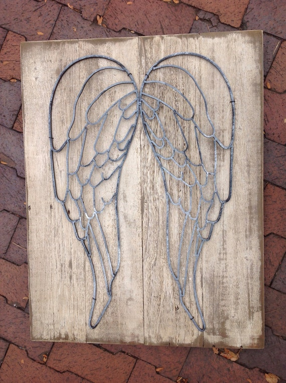 Items similar to angel wing wall decor on etsy for Angel wall decoration