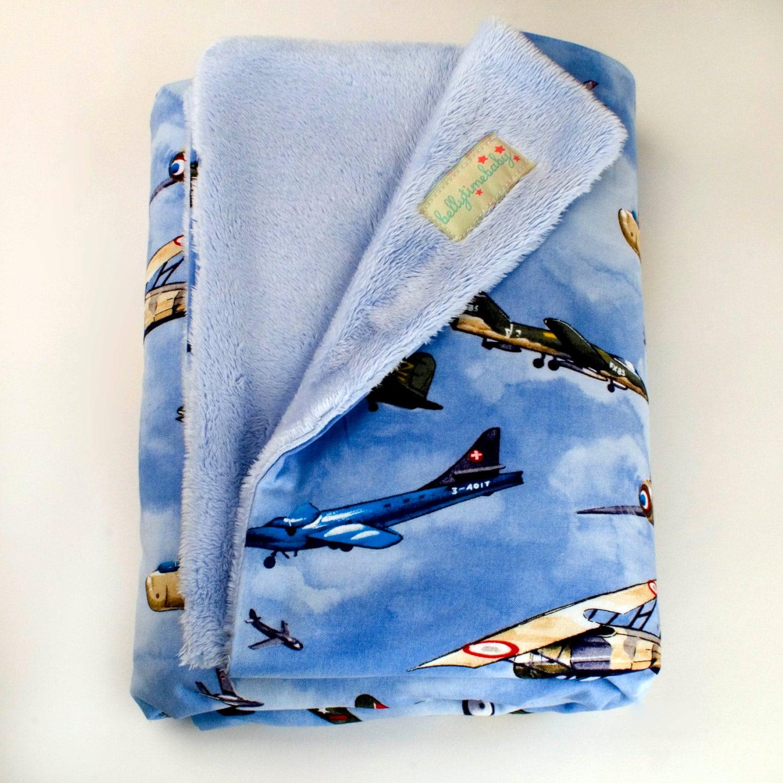 Airplane Baby Blanket Handmade