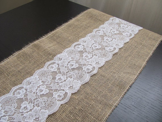 Chantillon Dentelle Chemin De Table Toile De Jute 12 5