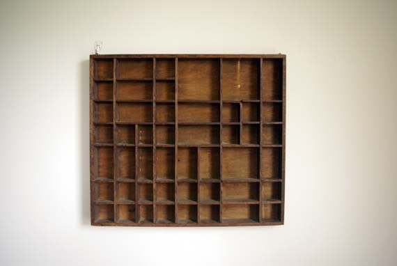 Large Wooden Curio Shelf Knick Knack Display Wall Hanging