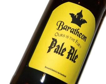 Joffrey Baratheon, King Joffrey, Renly Baratheon, Stannis,Baratheon, Beer Labels, Ours is the Fury, Game of Thrones beer, Stocking Stuffer