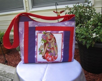 Purple and Red Hu LaLa Shoulder Bag
