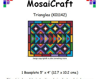 MosaiCraft Pixel Craft Mosaic Art Kit 'Triangles' (Like Paint by Numbers)