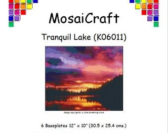 MosaiCraft Pixel Craft Mosaic Art Kit 'Tranquil Lake' (Like Mini Mosaic and Paint by Numbers)