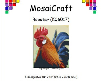 MosaiCraft Pixel Craft Mosaic Art Kit 'Rooster' (Like Mini Mosaic and Paint by Numbers)
