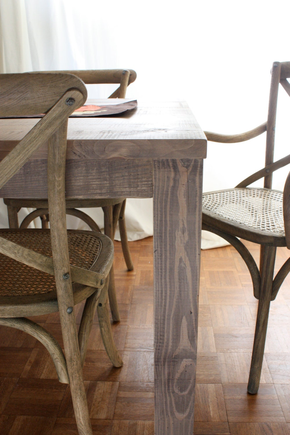 72x30 Reclaimed Wood Farmhouse Dining Table