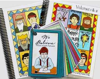 Combo: Book of Mormon Vol 1-2 & Articles of Faith Flash Cards