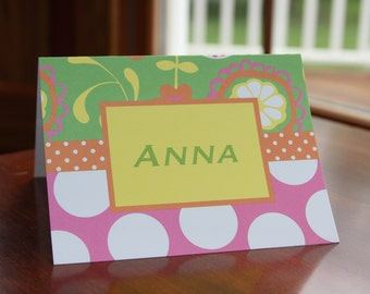 Personalized 4x6 foldover notes