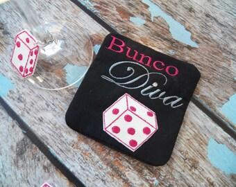BUNCO COASTER machine embroidery design