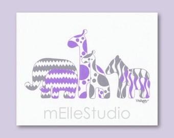popular items for purple gray nursery on etsy. Black Bedroom Furniture Sets. Home Design Ideas