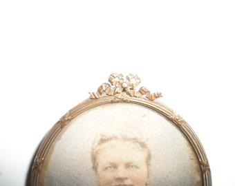 Antique Brass Photo Frame