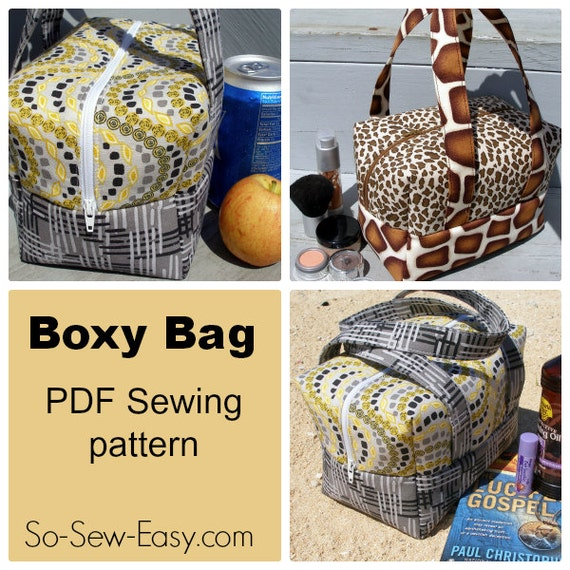 Boxy Bag Pdf Sewing Pattern
