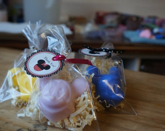 10 Mickey Soap  Party Favors Bags WITH or WITHOUT tags and ribbons.