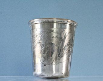 Rare french antique silver timbale - art nouveau - circa 1900