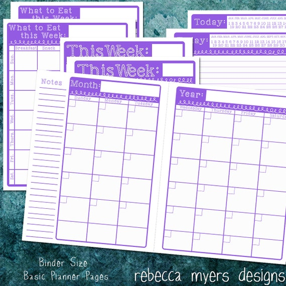 Items Similar To Printable Organizer Planner Pages Full