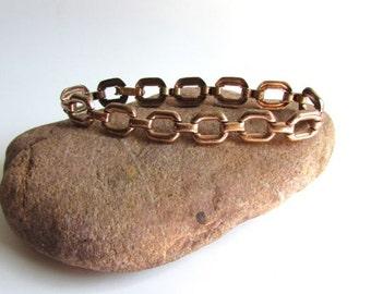 Early Coro Copper Link Bracelet