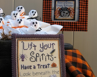 Spirits and Spiders Cross Stitch Pattern from Designs by Lisa