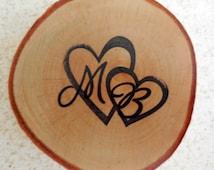 Rustic  Wedding Favor Wood  Magnet