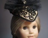 Doll Hat with Hat Box for 1870 - 1880