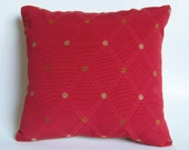 Red Diamond Accent Pillow