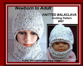 Knitting Pattern Of Baby Balaclava : Toddler balaclava Etsy