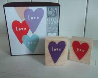 Rubber Stamps - Yellow Owl Workshop Love you stamps