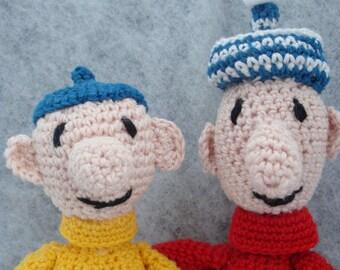 Dutch crochet pattern of pat and mat