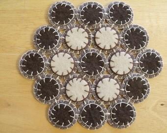 Penny Rug candle mat Hot Pad Trivet