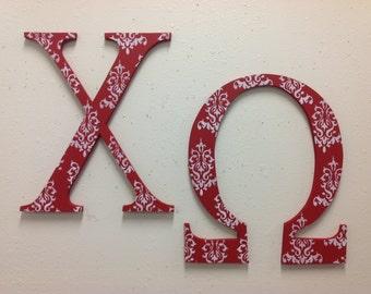 Chi Omega large Greek letters sorority