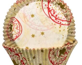 Cream Stars Cupcake Cases x60