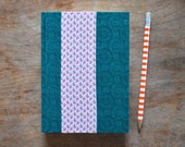 One-of-a-kind Hand Bound Datebook with Vintage Fabrics