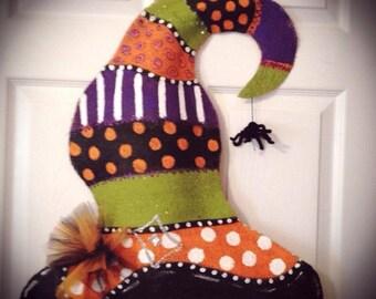 Halloween Burlap witch Hat
