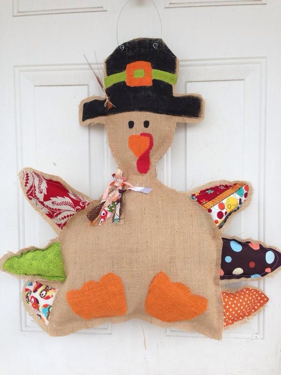 Sale thanksgiving turkey door hanger cute decor
