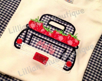 Strawberry Truck Applique Shirt
