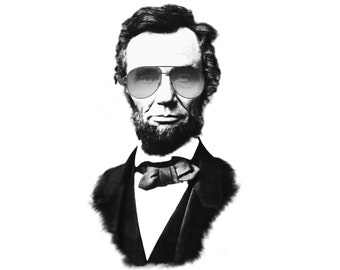 Abraham Lincoln wearing some aviators