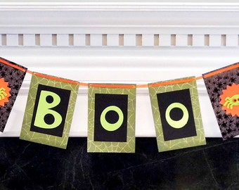 Boo Halloween Decorative Banner