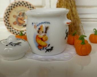 Vintage Halloween Dollhouse Canister/Crock
