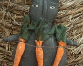 Black Prim Rabbit w/ Carrots