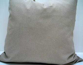 20x20 Pillow Cover. Linen pillow cover. Putty tan pillow cover.