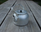 Sweden Vintage Trangia Aluminum Tea Kettle Rustic houseware 1970s Farmhouse kitchen decor - Luckytage