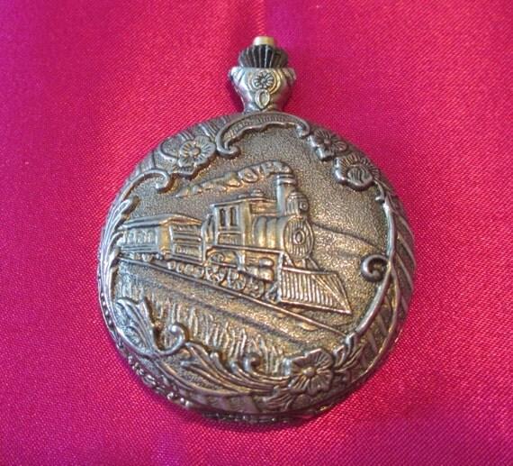 pocket antique brass colored geneva antimagnetic