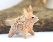 CUSTOM ORDER Fennec Fox Totem Figurine Personalized Sculpture, Animal magic spirit amulet