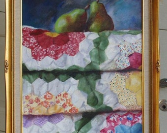 Quilt with pears