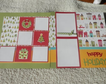 Double 12x12 PreMade Christmas Scrapbook Layout