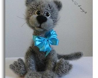 KITTEN OOAK Stuffed Animals Crochet Handmade Soft toy decor Amigurumi Made to order