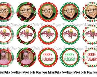 A Christmas Story Digital Bottle Cap Images