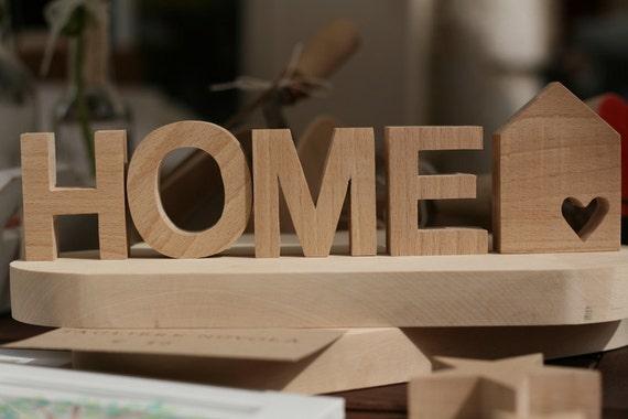 scritta home con lettere in legno massiccio ForScritta Home In Legno